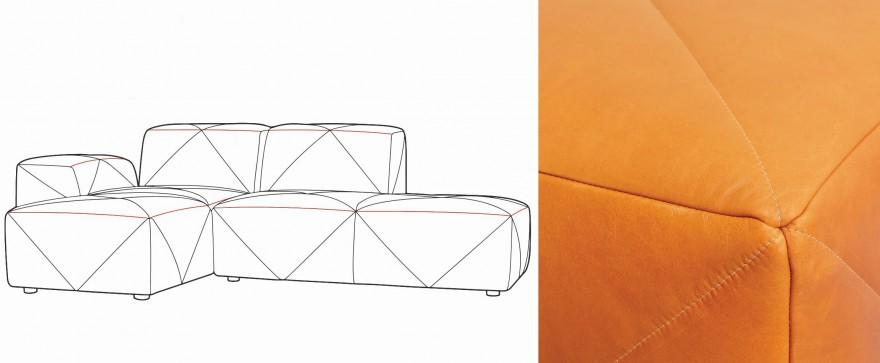 Detail stikking BFF Sofa, Moooi