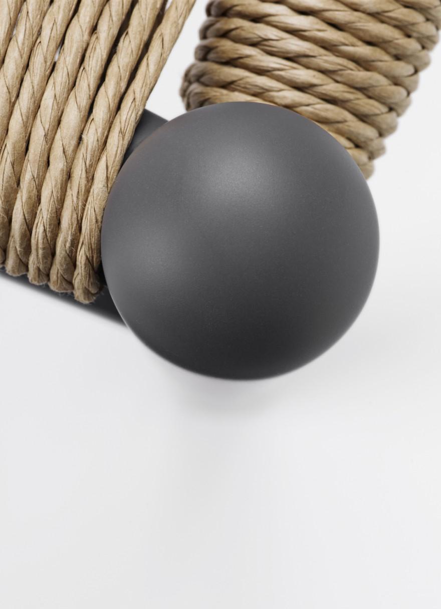 Detail van de soft grijze kleur