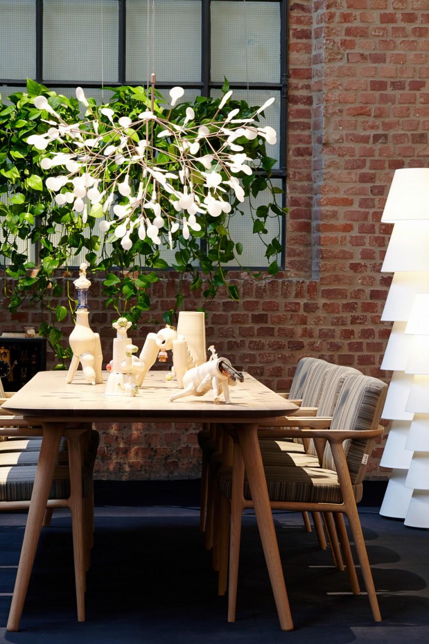 Heracleum hanglamp geïnspireerd op licht geevende planten...