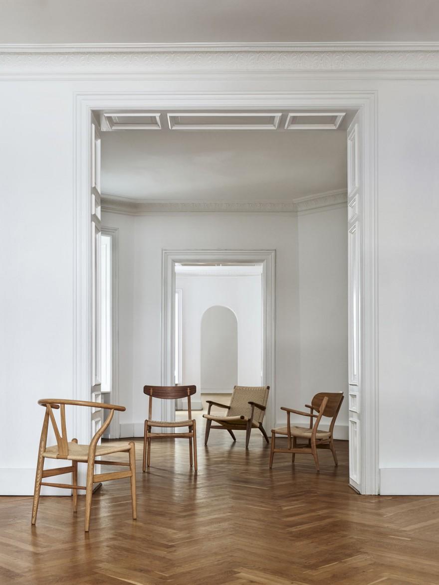 Les chefs-d'œuvre de Wegner: tous avec assis en corde de papier