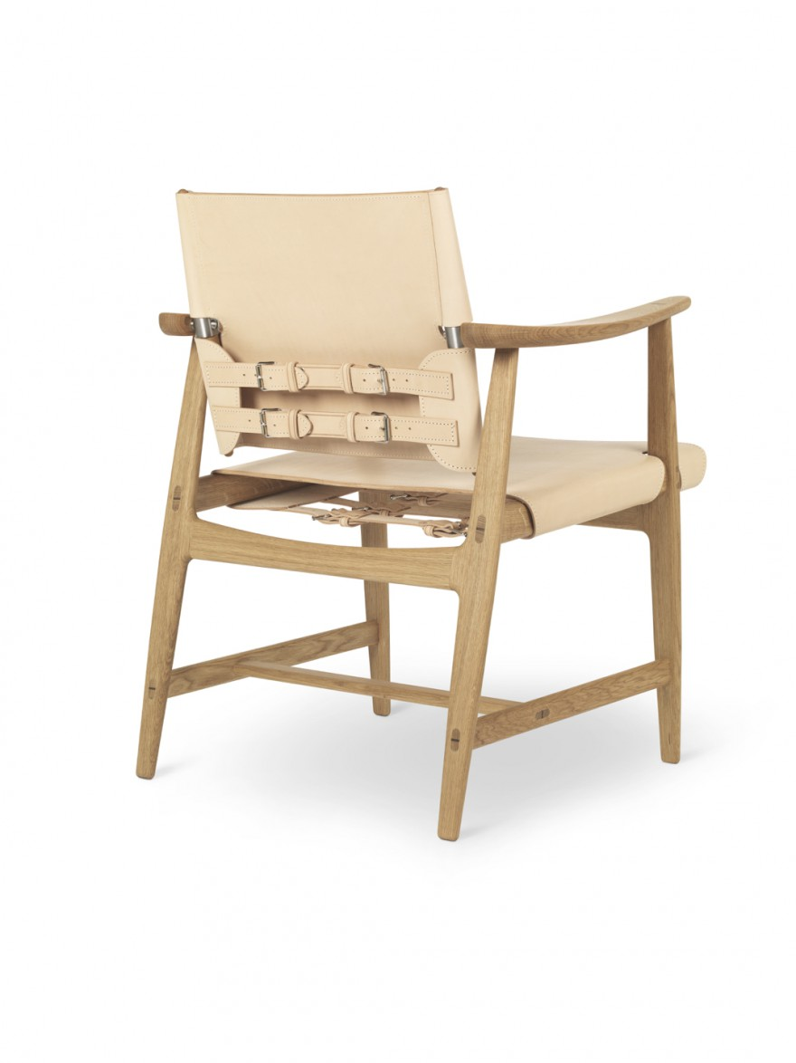 BM1106 Huntsman chair - oak oil - natural saddleleather