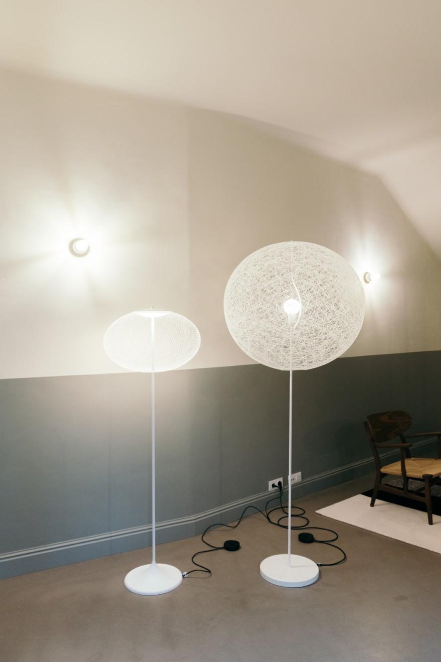 Random (Medium) en Non Random vloerlampen, MOOOI