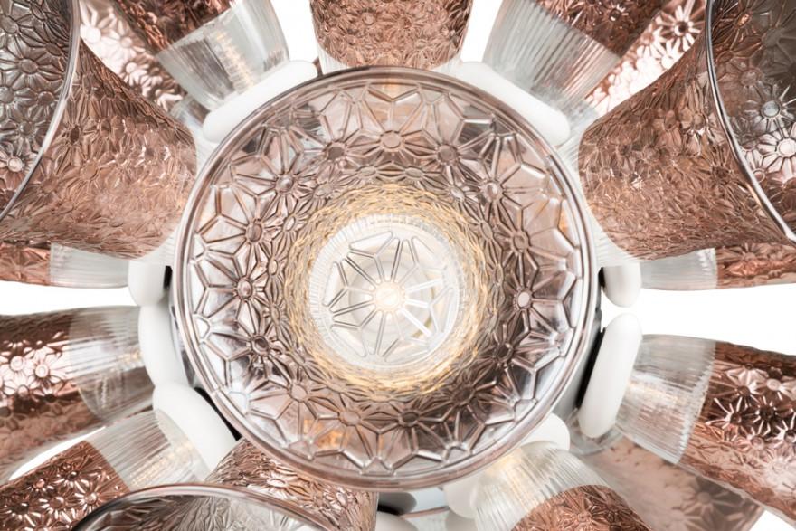 Detail van de Chalice lamp: een creatie van Gerard van Vliet uit 2016