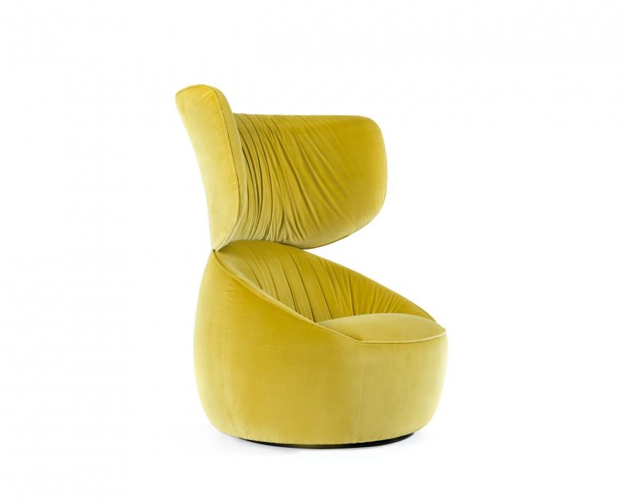 Hana Armchair Wingback in gele velours