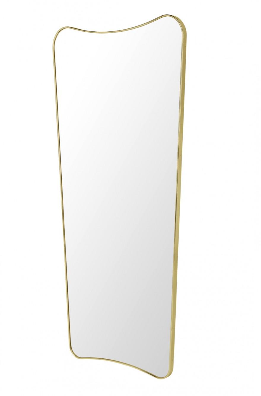 FA33 spiegel van Gio Ponti in brilliant brass (54 x 80 cm)